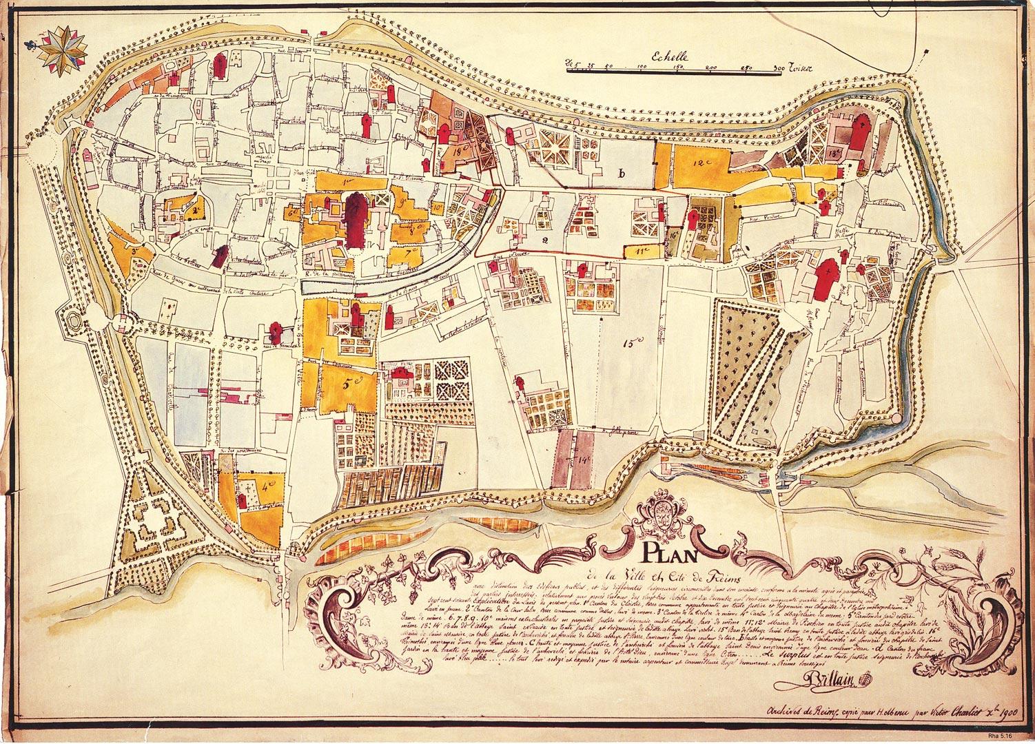Plan de la ville et cité de reims
